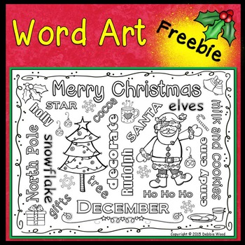CHRISTMAS WORD ART FREEBIE