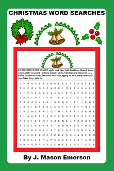 CHRISTMAS WORD SEARCHES fun activities and also has Spanis