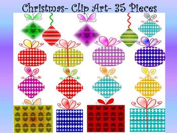 Christmas Activities - Ornaments - Clip Art - Personal or