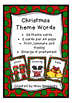 CHRISTMAS theme word cards WORD WALL *** 26 Xmas words for