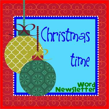 CHRISTMASTIME theme - Newsletter Template - Word