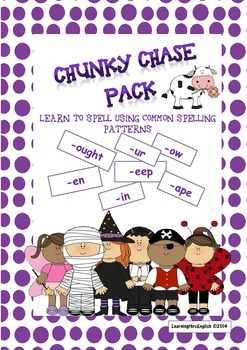 WORD CHUNK BOARD GAMES - CHUNKY CHASE BONUS PACK