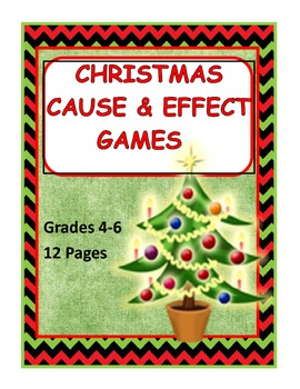 CHristmas Games Cause and Effect- Fact and Opinion