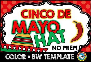 CINCO DE MAYO CRAFT: SOMBRERO HAT: HOLIDAY CRAFTS: MAY CRAFTS
