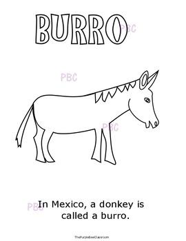 "CINCO DE MAYO ""Burro"" Coloring Sheet"