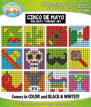 CINCO DE MAYO Create Your Own Mystery Images Clipart Set