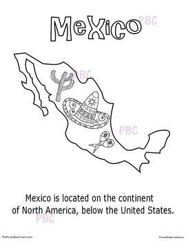 CINCO DE MAYO Mexico Coloring Sheet