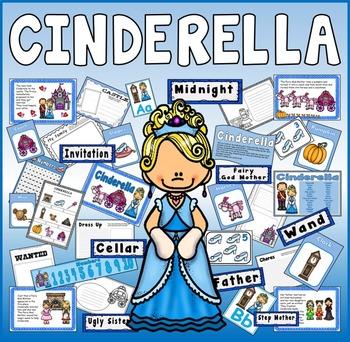CINDERELLA STORY TEACHING RESOURCES EYFS KS1-2 ENGLISH DISPLAY