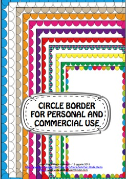 CIRCLE BORDERS for PERSONAL AND COMMERCIAL USE