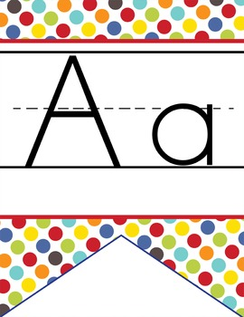 CIRCUS - Alphabet Flag Banner, handwriting, A to Z, ABC pr