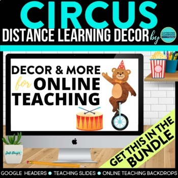 CIRCUS / CARNIVAL THEME Decor - 2 EDITABLE Clutter-Free Cl