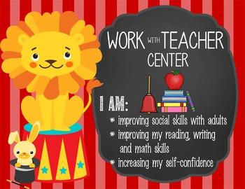 CIRCUS - Classroom Decor: Center Signs, student cards