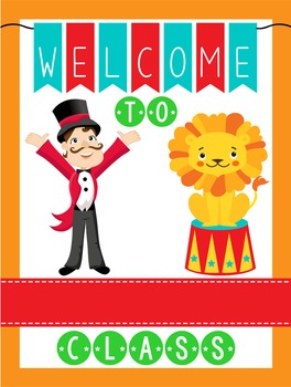 CIRCUS - Classroom Decor: WELCOME Poster - 18 x 24, you pe