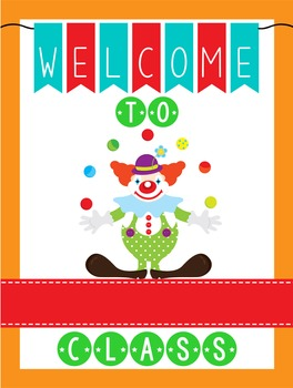 CIRCUS - Classroom Decor: WELCOME Poster - 18 x 24, you pe