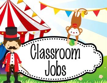 CIRCUS - Classroom Helpers JOBS clip chart