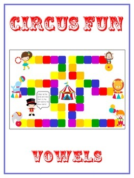 CIRCUS FUN Vowels- ELA First Grade Folder Game - Word Work Center