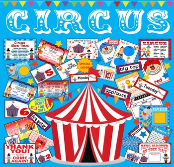 CIRCUS TEACHING RESOURCES ROLE PLAY DISPLAY EYFS KS1-2 ENG