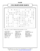 CIVIL RIGHTS WORD SEARCH FOR MARTIN LUTHER KING DAY AND BL
