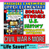 CIVIL WAR & More- 5th Grade Social Studies INTERACTIVE NOT