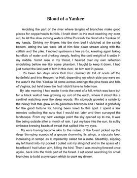 """CIVIL WAR SHORT STORY  //  """"BLOOD OF A YANKEE"""""""