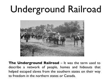 Civil War - The Underground Railroad PowerPoint