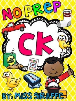 CK Worksheets & Activities {NO PREP!}