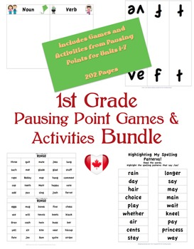 CKLA 1st Grade Games/Pausing Point Activities BUNDLE