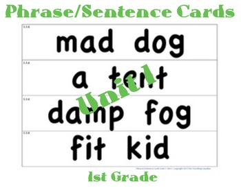 CKLA 1st Grade Unit 1 Phrases/Sentences Flashcards