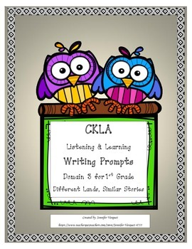 CKLA 1st Grade Writing Prompts Domain 3 Different Lands, S