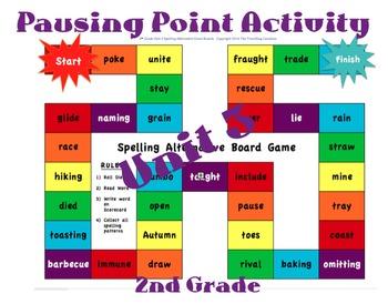CKLA 2nd Grade Unit 3 Spelling Alternative Game Boards