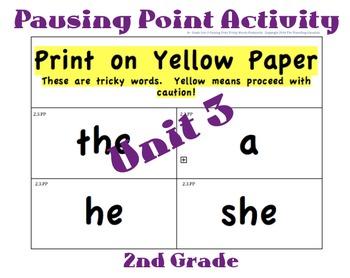 CKLA 2nd Grade Unit 3 Tricky Words Flashcards (Pausing Poi