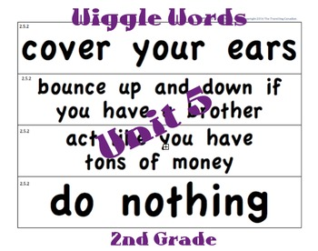 CKLA 2nd Grade Unit 5 Wiggle Words