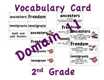 CKLA 2nd Grade Vocabulary Cards Domain 11