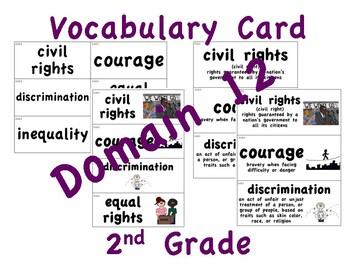 CKLA 2nd Grade Vocabulary Cards Domain 12