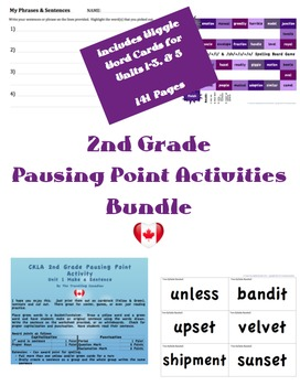 CKLA 2ndGrade Games/Pausing Point Activities BUNDLE