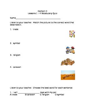 CKLA Domain 4 Lessons 1-4 Vocabulary Quiz