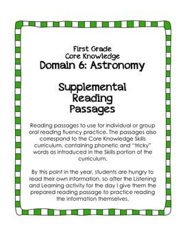 CKLA Domain 6: Astronomy {First Grade}