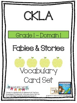 CKLA Grade 1 Domain 1 Fables and Stories Vocabulary Card Set