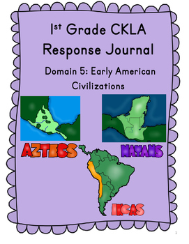 CKLA Grade 1 Domain 5 Reading Response Journal