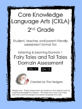 CKLA Grade 2 Domain 1- Fairy Tales and Tall Tales Domain A