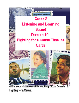 CKLA Grade 2 Domain 12: Fighting for a Cause Timeline Cards