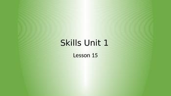 CKLA Grade 2 Skills Unit 1 Lesson 15 PowerPoint