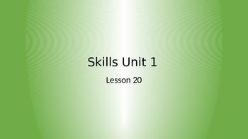 CKLA Grade 2 Skills Unit 1 Lesson 20 PowerPoint