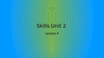 CKLA Grade 2 Skills Unit 2 Lesson 4 PowerPoint