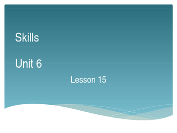 CKLA Grade 2 Skills Unit 6 Lesson 15 PowerPoint