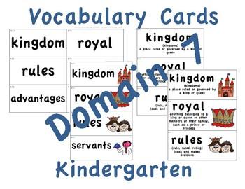 CKLA Kindergarten Domain 7 Vocabulary Cards