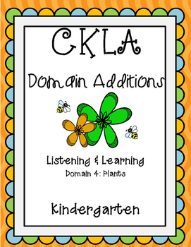 CKLA Kindergarten Listening and Learning Domain 4 Plants