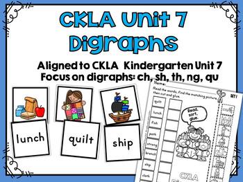 CKLA Kindergarten Skills Unit 7 Sorting Activities