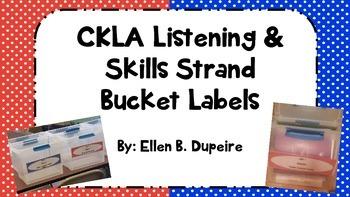 CKLA Listening & Skills Bucket Labels