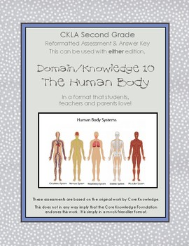 CKLA Second Grade Domain 10 The Human Body Alternative Assessment